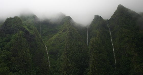 Kualoa Waterfall Peaks
