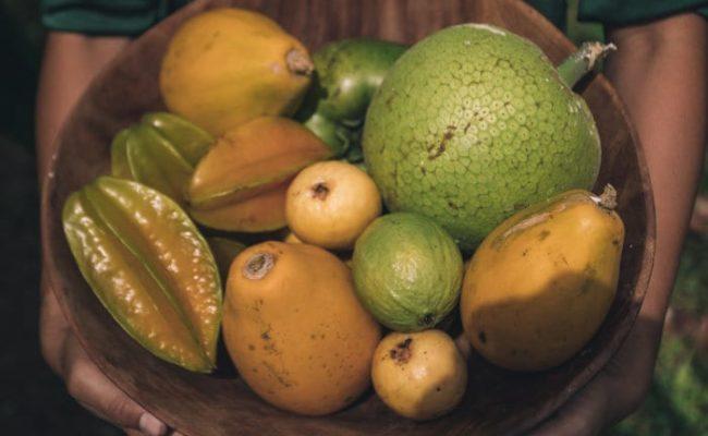 Fruits from kualoa Farm
