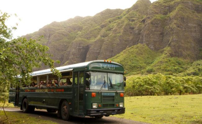 Movie site tour bus