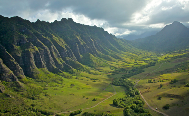 View of valley on UTV tour